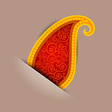 Seamless background from a paisley ornament Stock Photo