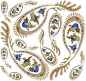 Seamless background from a paisley ornament, fashi Royalty Free Stock Photography