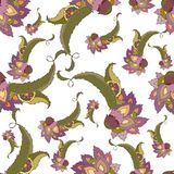 Seamless background from a paisley ornament, fashi Royalty Free Stock Photos