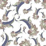 Seamless background from a paisley ornament, fashi Royalty Free Stock Image