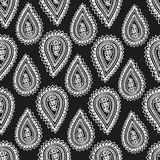Seamless background with paisley Royalty Free Stock Photo