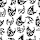 Seamless background with paisley. Stock Photos