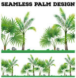 Seamless background with palm trees. Illustration Royalty Free Stock Photography