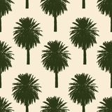 Pattern of the tropical palm trees Stock Photos