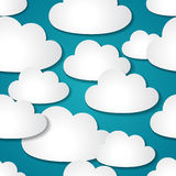 Seamless background with paper clouds Royalty Free Stock Images