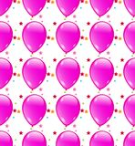 Seamless background with party balloons of pink Royalty Free Stock Images