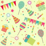 Seamless background with party stuff Royalty Free Stock Photos