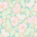 Seamless background with pastel flowers Royalty Free Stock Image