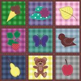seamless background with patchwork Royalty Free Stock Photo
