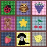 seamless background with patchwork Royalty Free Stock Photography