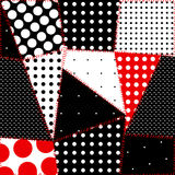 Seamless background of patchwork polka dot Royalty Free Stock Image