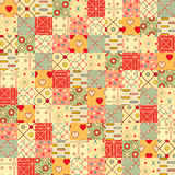 Seamless background in patchwork style Stock Photos