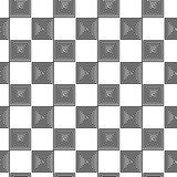 Seamless background, pattern - an abstract chessboard. Stock Images