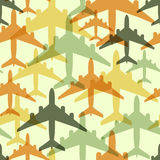 Seamless background pattern with airplanes Royalty Free Stock Images