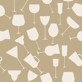 Seamless background pattern of alcoholic glass. Stock Photography