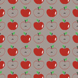 Seamless background pattern with apple Royalty Free Stock Photography