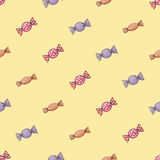Seamless background pattern of candy. Stock Images