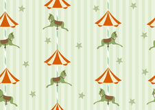 Seamless background pattern of carousel horse,Vector illustrations Royalty Free Stock Photo