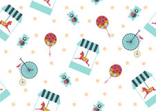 Seamless background pattern of carousel horse,Vector illustrations Stock Photos