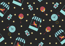 Seamless background pattern of carousel horse,Vector illustrations Royalty Free Stock Images