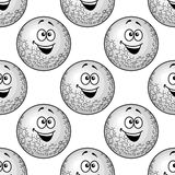 Seamless background pattern of cartoon golf balls Royalty Free Stock Photography