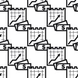 Seamless background pattern with charts Royalty Free Stock Images