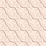 Seamless background pattern with coffee beans and Stock Photography