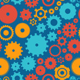 Seamless background pattern cogwheel Royalty Free Stock Photos