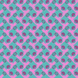 Seamless background pattern of colored polka dots and cells. Seamless background pattern of colored polka dots and cages for fabric and gift paper decoration royalty free illustration