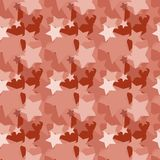 Seamless background pattern with colored diverse stars. Aesthetic colorful background stock illustration
