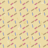 Seamless background pattern of colorful candy. Candy vector. Royalty Free Stock Image