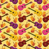 Seamless background, guitars Stock Image