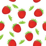 Seamless background pattern- colorful strawberry Royalty Free Stock Images
