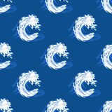 Seamless background pattern of a curling wave Royalty Free Stock Photography