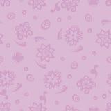 Seamless background pattern curls. Postcard curls vector. Seamless pattern background of purple flowers. Royalty Free Stock Photo