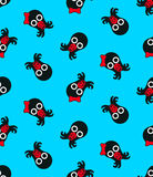 Seamless background pattern of cute baby octopus with pacifier Stock Photography