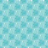 Seamless background pattern of delicate blue flower on a white background. Watercolor illustration.  Stock Photos