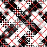 Imitation of a patchwork. Seamless background pattern. Diagonal plaid tartan pattern of a patchwork pattern stock illustration