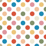 Seamless background pattern with dots Royalty Free Stock Images