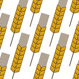 Seamless background pattern of an ear of wheat Royalty Free Stock Photo