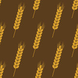 Seamless background pattern of ears of wheat Royalty Free Stock Images