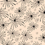 Seamless background pattern with edelweiss Royalty Free Stock Photos