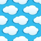 Seamless background pattern of fluffy white clouds Royalty Free Stock Photography