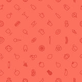 Seamless background pattern for food and drinks Stock Image
