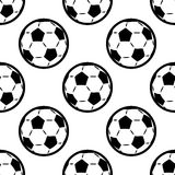 Seamless background pattern of footballs Royalty Free Stock Photos