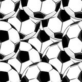 Seamless background pattern of footballs Stock Image