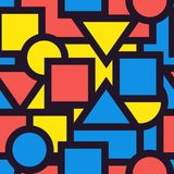 Seamless background pattern geometric graphic. Vector illustrat. E royalty free illustration