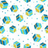 Seamless background pattern with gift. Vector illustration Royalty Free Stock Image
