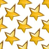 Seamless background pattern of glossy gold stars Stock Image