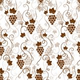 Seamless background pattern of grapes Stock Photo